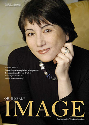 Cover Orhideal IMAGE Magazin Magazin Mai 2010 mit Sabine Boukai - Marketing & Strategisches Management Solarzentrum Bayern GmbH