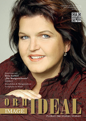 Cover Orhideal IMAGE Magazin Magazin September 2012 mit Elvie Zacherl - ?Die Wertgutachterin?, IMMKO Immobilien & Wertgutachten