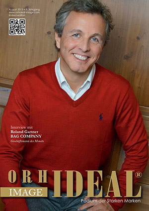 Cover Orhideal IMAGE Magazin Magazin August 2013 mit Roland Gartner - BAG COMPANY