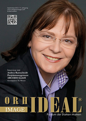 Cover Orhideal IMAGE Magazin Magazin September 2013 mit Andrea Ramscheidt - Projektmanagement ARCODO GmbH