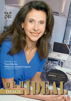 Cover Orhideal IMAGE Magazin Magazin August 2014 mit Tania Küchler - Online-Coaching-Company