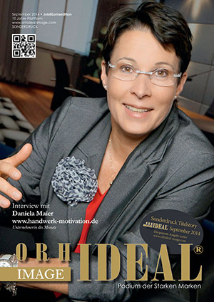 Cover Orhideal IMAGE Magazin Magazin September 2014 mit Daniela Maier - www.handwerk-motivation.de