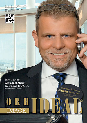 Cover Orhideal IMAGE Magazin Magazin Oktober 2014 mit Alexander Maier - InterReCo HQ USA