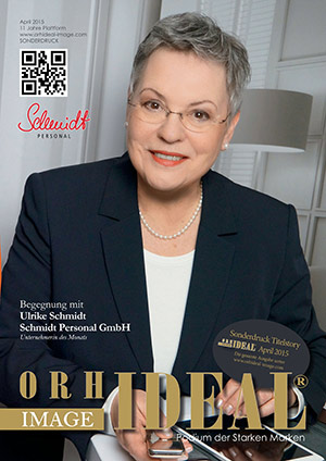 Cover Orhideal IMAGE Magazin Magazin April 2015 mit Ulrike Schmidt - Schmidt Personal GmbH