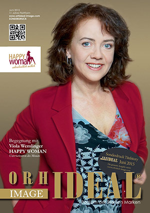 Cover Orhideal IMAGE Magazin Magazin Juni 2015 mit Viola Wemlinger - HAPPY WOMAN