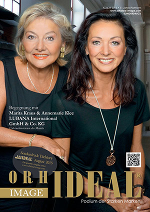 Cover Orhideal IMAGE Magazin Magazin August 2015 mit Marita Kraus & Annemarie Klee - LUBANA International GmbH & Co. KG