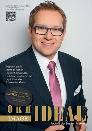 Cover Orhideal IMAGE Magazin Magazin September 2015 mit Immo Heinrich - Experte Cashmind for Cashflow, Pensulio