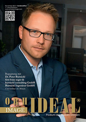 Cover Orhideal IMAGE Magazin Magazin November 2015 mit Dr. Peter Burnickl - first base seger & burnickl consulting GmbH , Burnickl Ingenieur GmbH