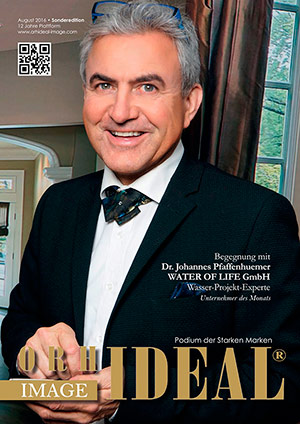 Cover Orhideal IMAGE Magazin Magazin August 2016 mit Dr. Johannes Pfaffenhuemer - WATER OF LIFE GmbH