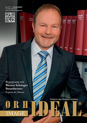 Cover Orhideal IMAGE Magazin Magazin Mai 2017 mit Werner Sulzinger - Steuerberater