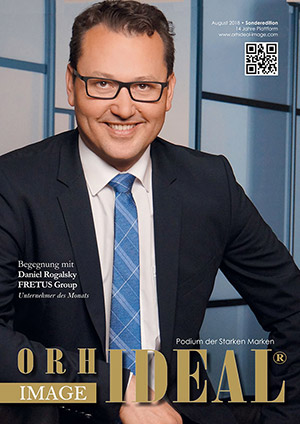 Cover Orhideal IMAGE Magazin Magazin August 2018 mit Daniel Rogalsky - FRETUS Group