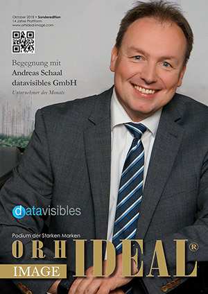 Cover Orhideal IMAGE Magazin Magazin Oktober 2018 mit Andreas Schaal - datavisibles GmbH