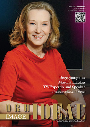 Cover Orhideal IMAGE Magazin Magazin April 2019 mit Martina Hautau - TV-Expertin und Speaker