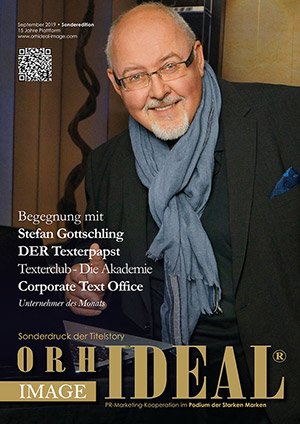 Cover Orhideal IMAGE Magazin Magazin September 2019 mit Stefan Gottschling - Texterclub - Die Akademie<br>Corporate Text Office